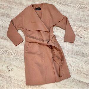 NWOT Badgley Mischka Lex Wrap Coat Blush Pink, L